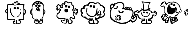 Mr Men font