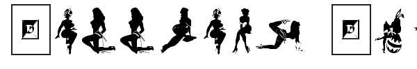 Darrians Sexy Silhouettes font preview