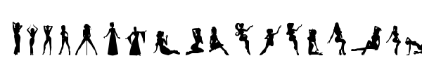 Silhouettes from Poser LT font