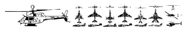 Aircraft font preview