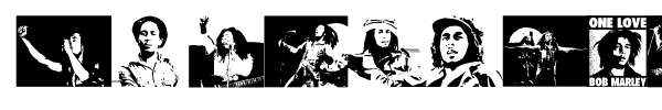 Bob Marley font preview
