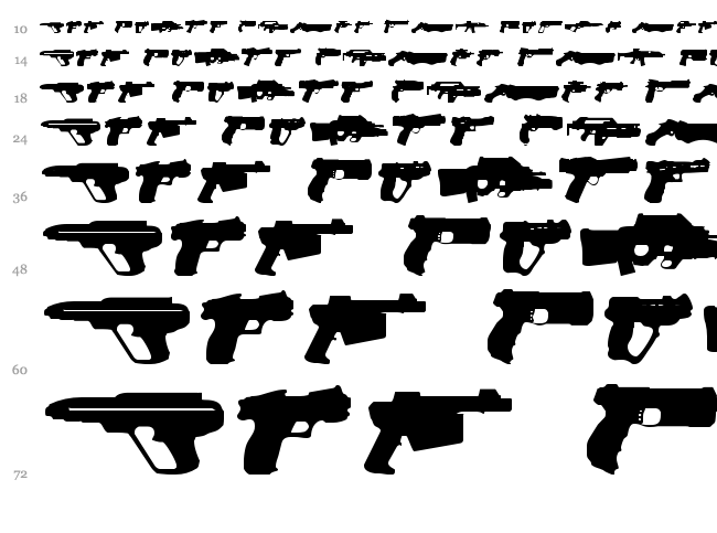 2nd Amendment 2050 font waterfall