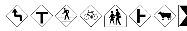 RoadSign + Warning font preview