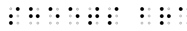 Sheets Braille font
