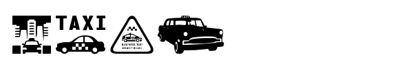 Taxi font preview