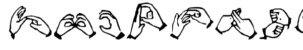 The Hands of Deaf font preview