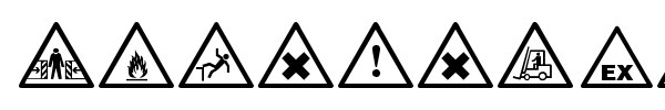 Warning Tables font preview