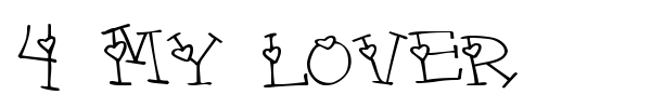 4 My Lover font