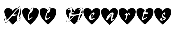 All Hearts font