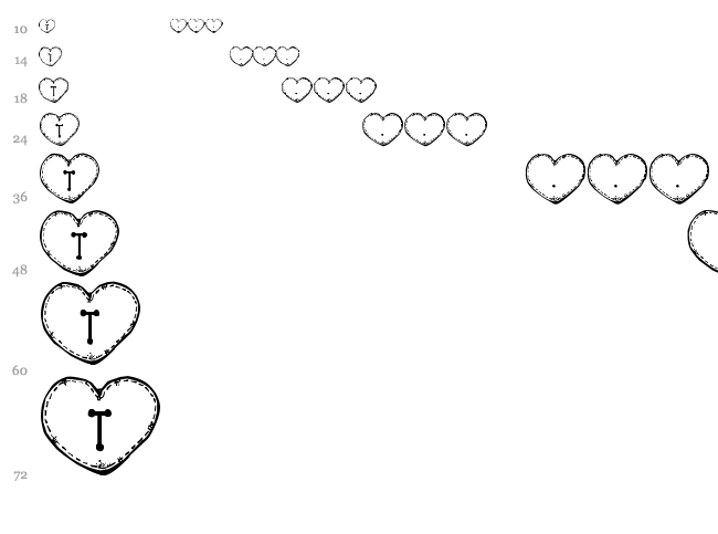 Country Hearts font waterfall