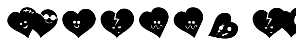 Fluffy Hearts Ding font