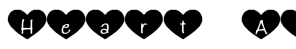 Heart Attack font preview
