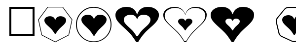 Hearts for 3D FX font preview