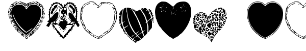 Hearts Galore font