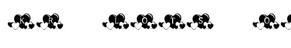 KR Lots of Hearts font