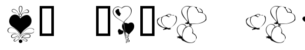 KR With Heart font
