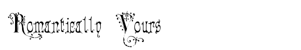 Romantically Yours font preview