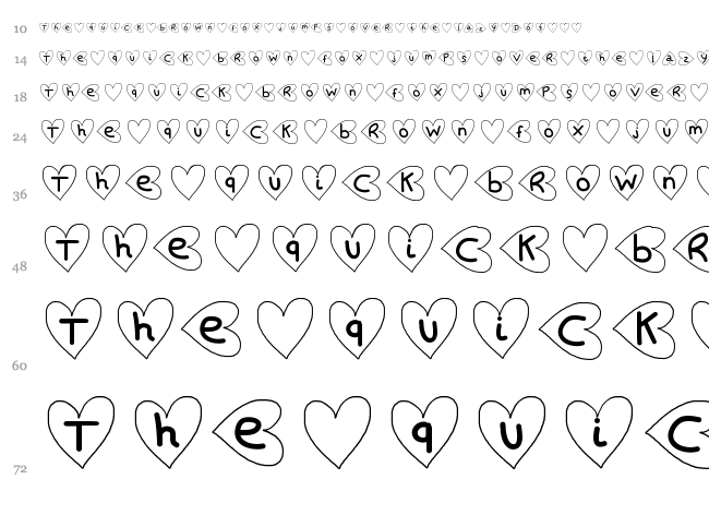 Saint Valentin font waterfall
