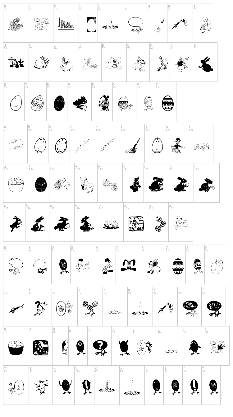 Eastereggs font map