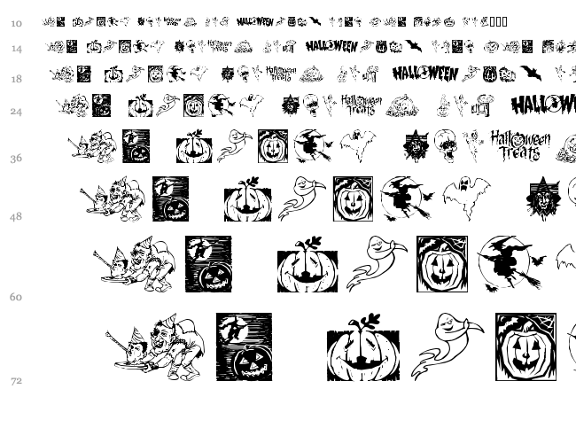 Helloween 2 font waterfall
