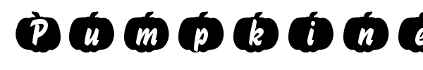 Pumpkinese font preview