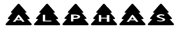 AlphaShapes Xmas Trees font preview