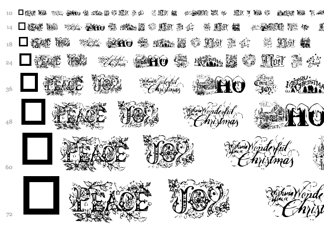 Christmas Cheer font waterfall