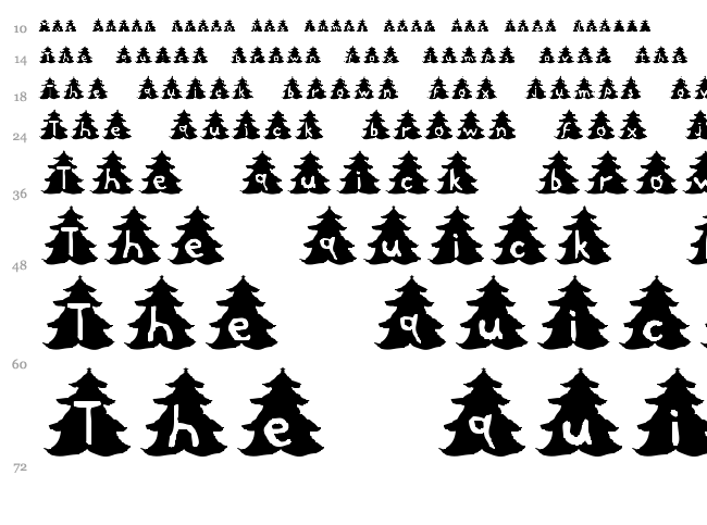 Christmas Tree font waterfall