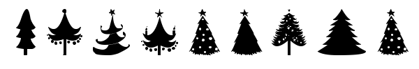 Christmas Trees font preview